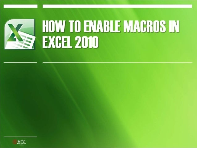 how to create a macro in excel 2010
