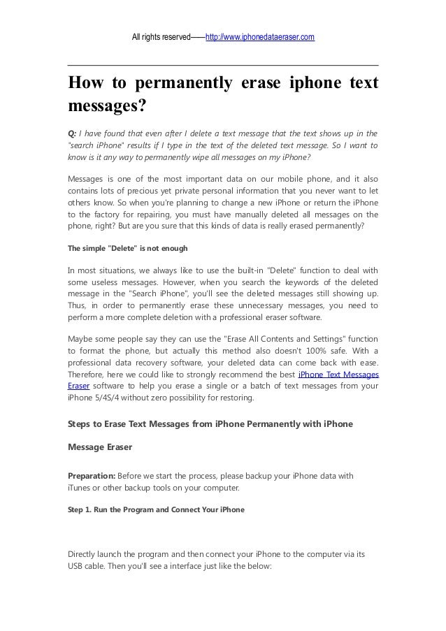 how to delete all text messages on iphone 5
