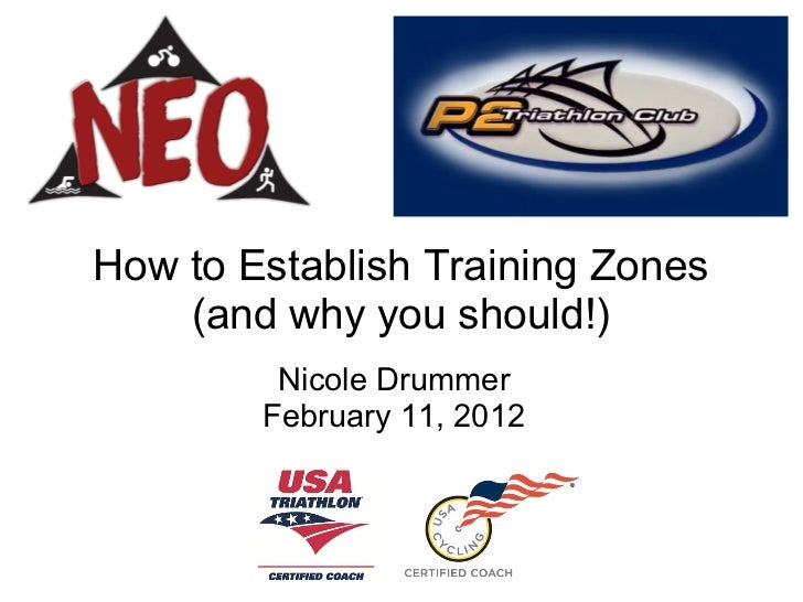 How to Establish Training Zones    (and why you should!)         Nicole Drummer        February 11, 2012