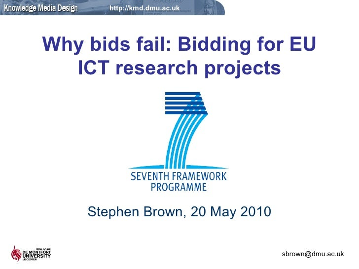 Why bids fail: Bidding for EU ICT research projects