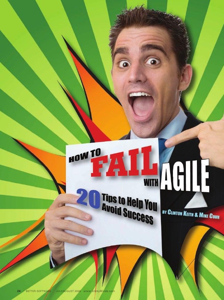 How To Fail With Agile