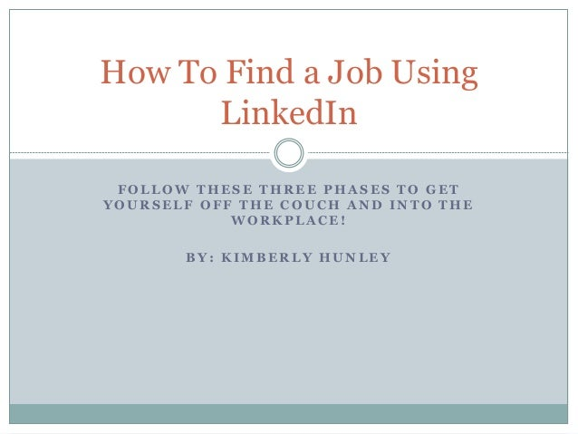 how to get job using linkedin