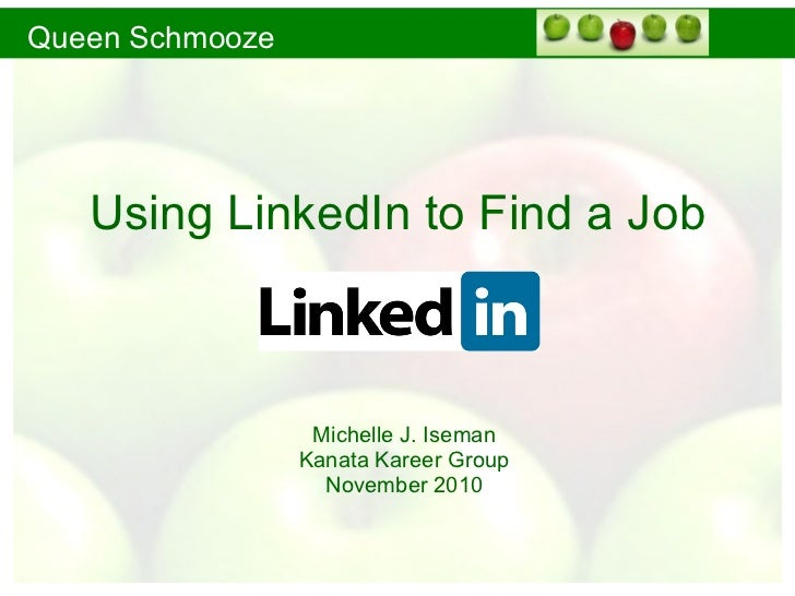 Using LinkedIn to Find a Job