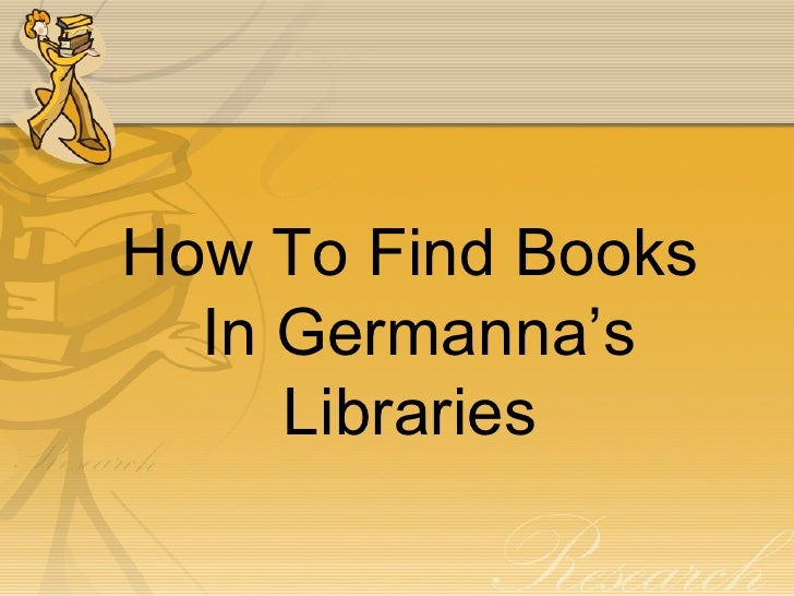 How To Find Books  In Germanna's     Libraries