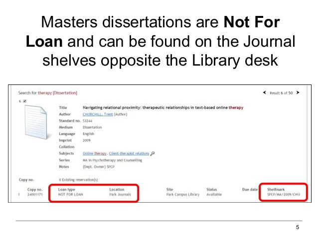 How to find dissertations
