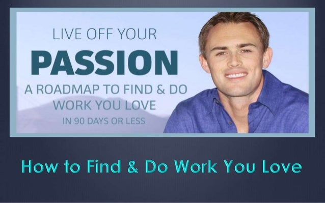 tedex how to find work you love
