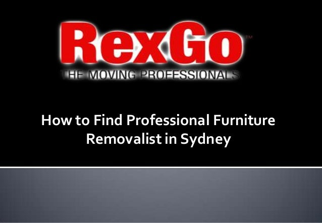How to find professional furniture removalist in sydney