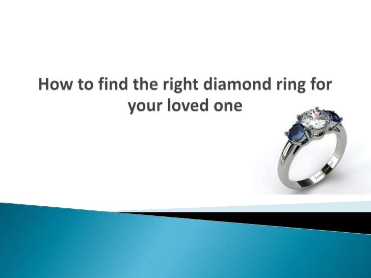How to find the right diamond ring