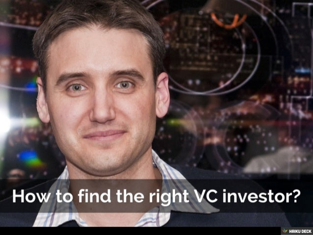 How to find the right investor?