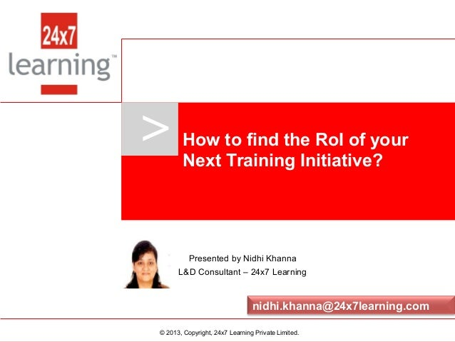 How to find the Return On Investment (ROI) of your Next Training Initiative