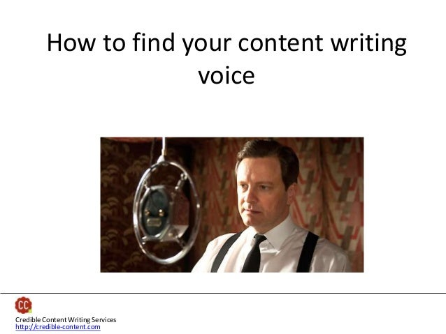 How to find your content writing voice  Credible Content Writing Services http://credible-content.com