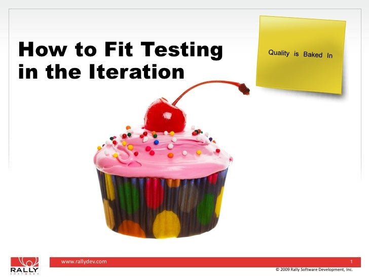 How To Fit Testing Into The Iteration