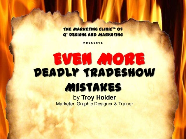 How to fix deadly trade show marketing mistakes