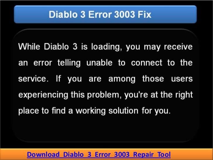 Download Diablo 3 Error 3003 Repair Tool