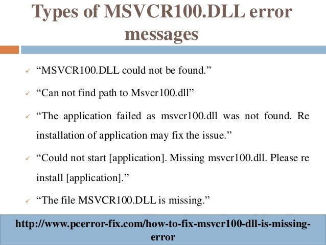 how to fix missing dll file errors