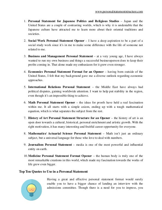 how to close personal statement