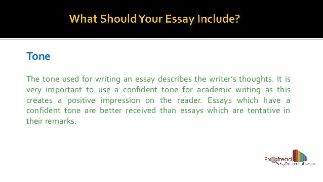 Tone of an essay