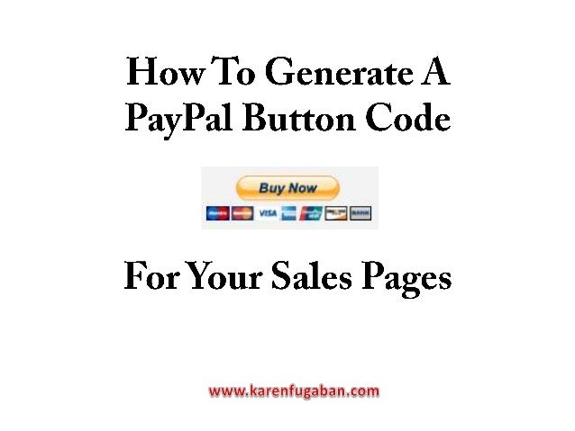 Type www.paypal.com in your address bar