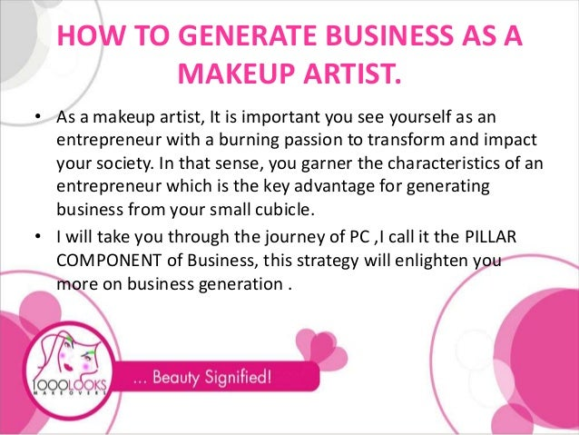 Starting Your Own Bridal Makeup Business : Events company business plan pdf, cosmetics marketing ideas