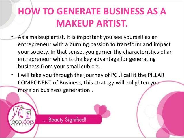 Makeup artist business plan sample flashek Gallery