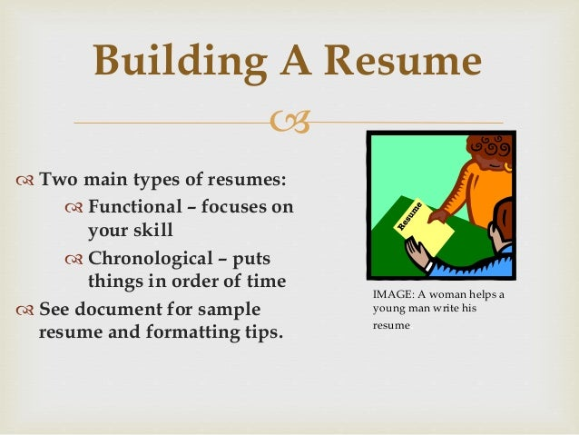 Different kinds of resumes