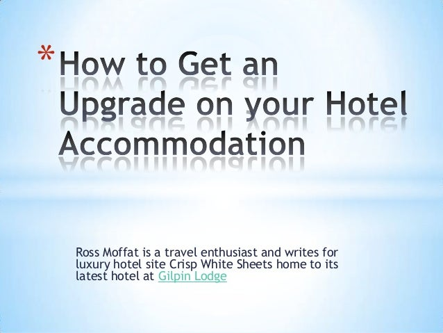 Ross Moffat is a travel enthusiast and writes forluxury hotel site Crisp White Sheets home to itslatest hotel at Gilpin Lo...