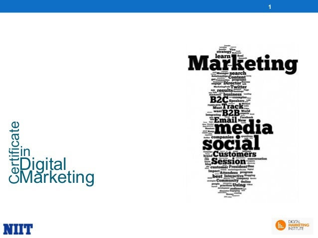 Certificate  1  in  Digital Marketing