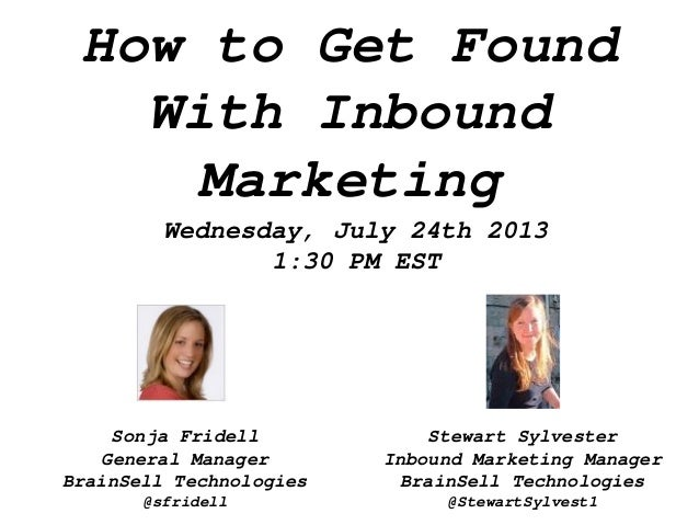 How to get found with inbound marketing