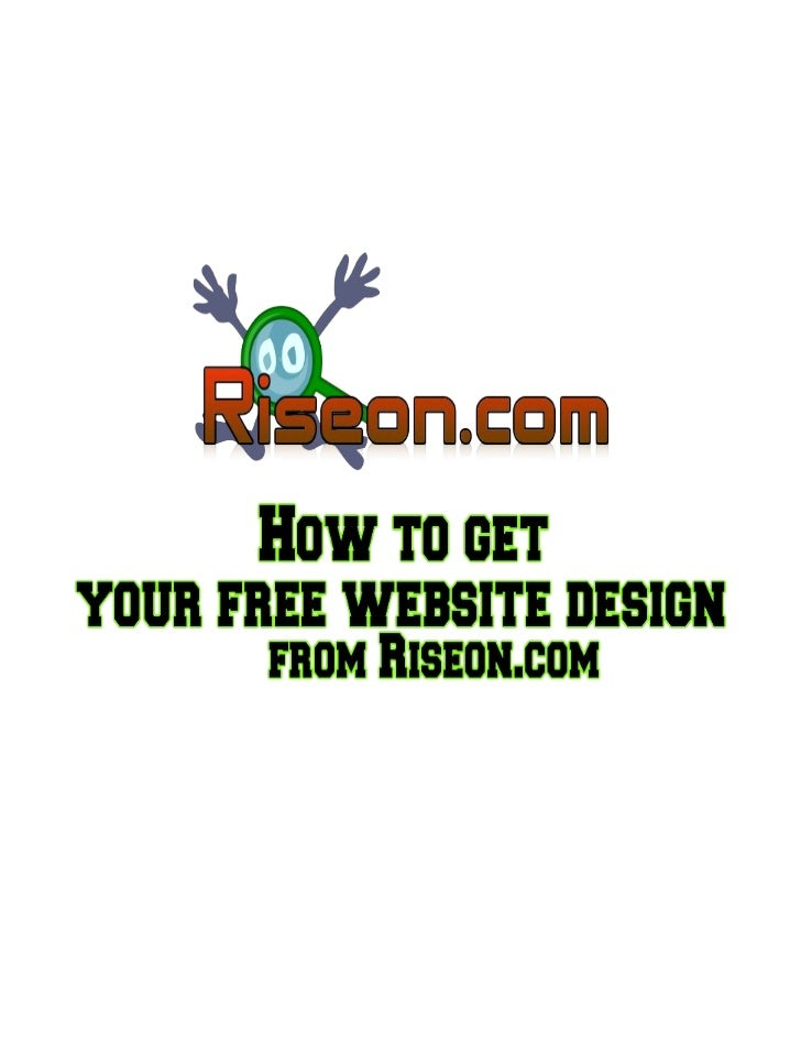 How To Get Free Web Design For your Website