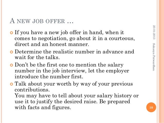 how to negotiate a job offer salary new job offer salary