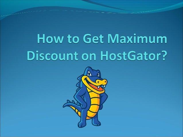 How to get maximum discount on HostGator