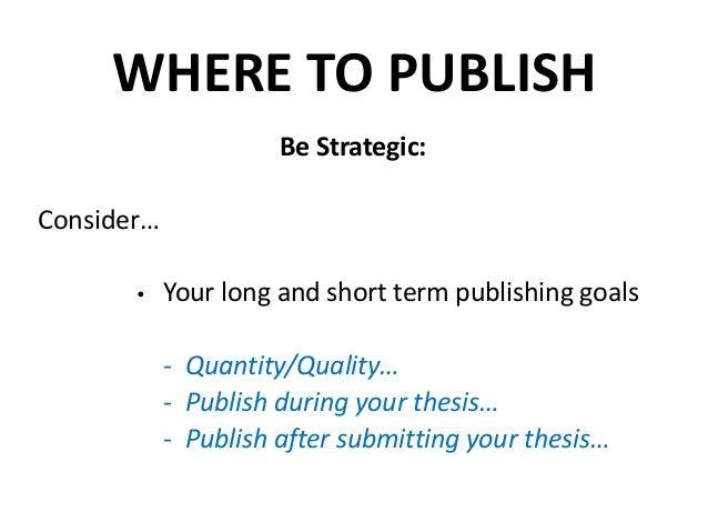 publication thesis