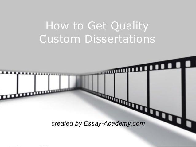 get dissertations