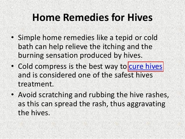 How To Treat Stress Hives Naturally