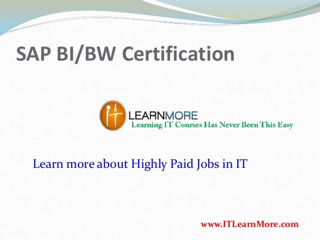 How to get SAP BI AND BW Certification