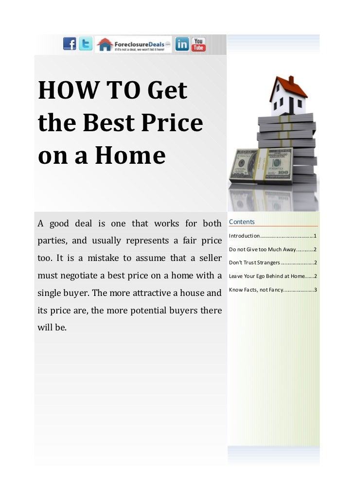 HOW TO Getthe Best Priceon a HomeA good deal is one that works for both           Contents                                ...