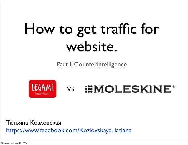 How to get traffic for website. Part I. Counterintelligence  VS  Татьяна Козловская https://www.facebook.com/Kozlovskaya.Ta...