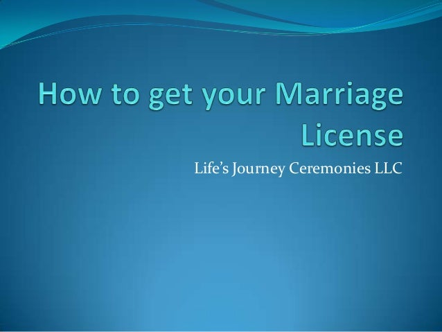 How to get your marriage license