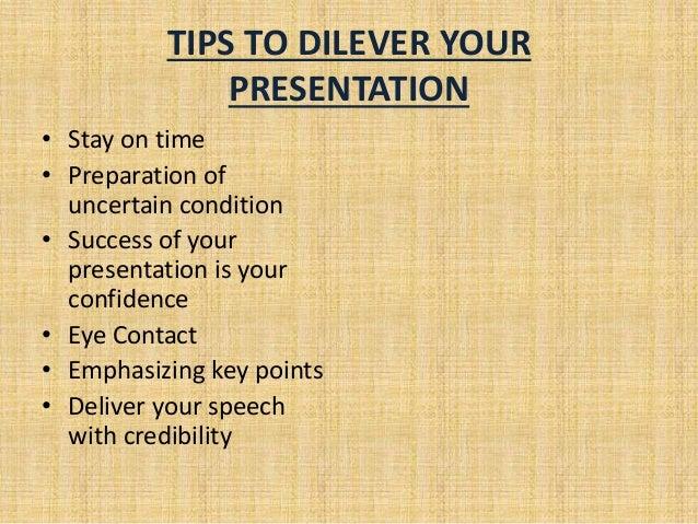 Give a presentation on
