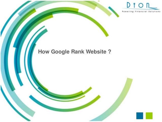 How Google Rank Website ?