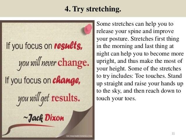 how to grow up taller