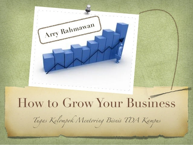 "ahm awan     A rry RHow to Grow Your Business  Tugas Kelompok Mento!ng B""n"" TDA Kampus"
