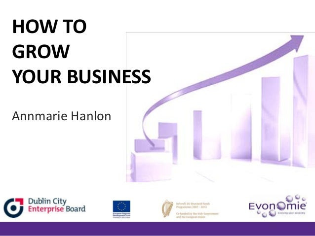 HOW TO GROW YOUR BUSINESS Annmarie Hanlon