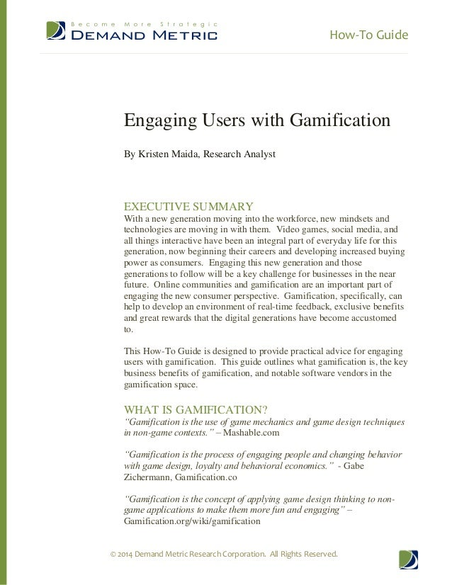 How To Guide - Engaging Users with Gamification