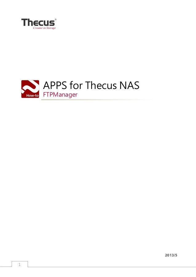 1 APPS for Thecus NASFTPManager2013/5Creator in Storage