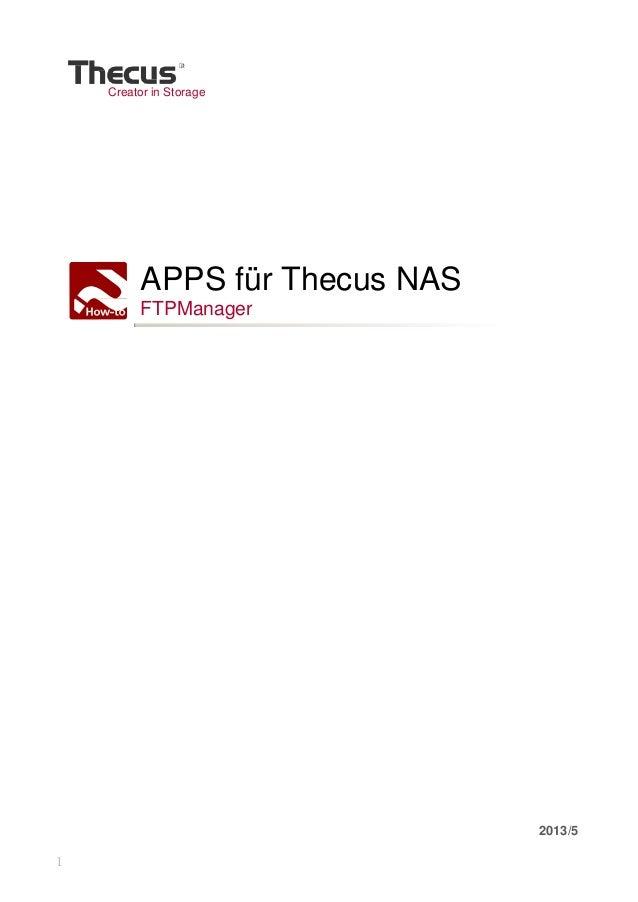 1 Creator in Storage APPS für Thecus NAS FTPManager 2013/5