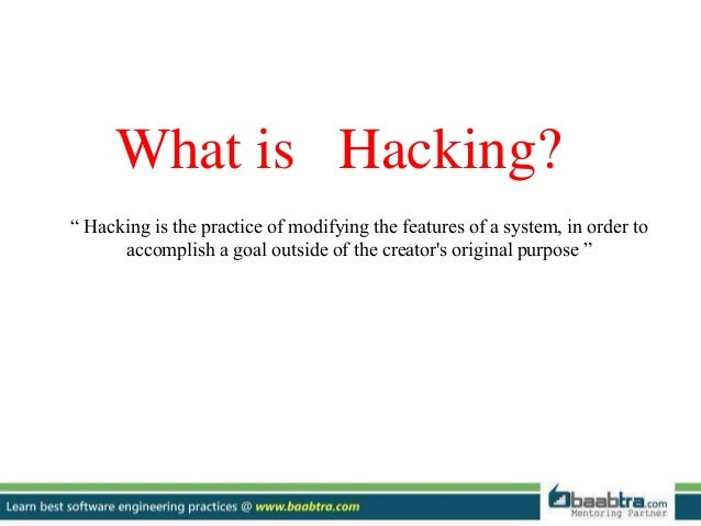 defining a computer hacker and the different ways to hack a computer 5 ways hackers gain access to it also helps to understand a few of the more popular ways in which today's hackers are gaining access to private complicated web hacking techniques where criminals research ways to infiltrate your source code and then try inputting different code to.