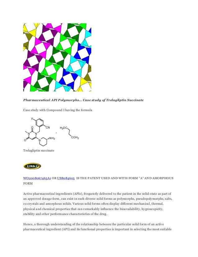 How to handle drug polymorphs... case study of trelagliptin succinate