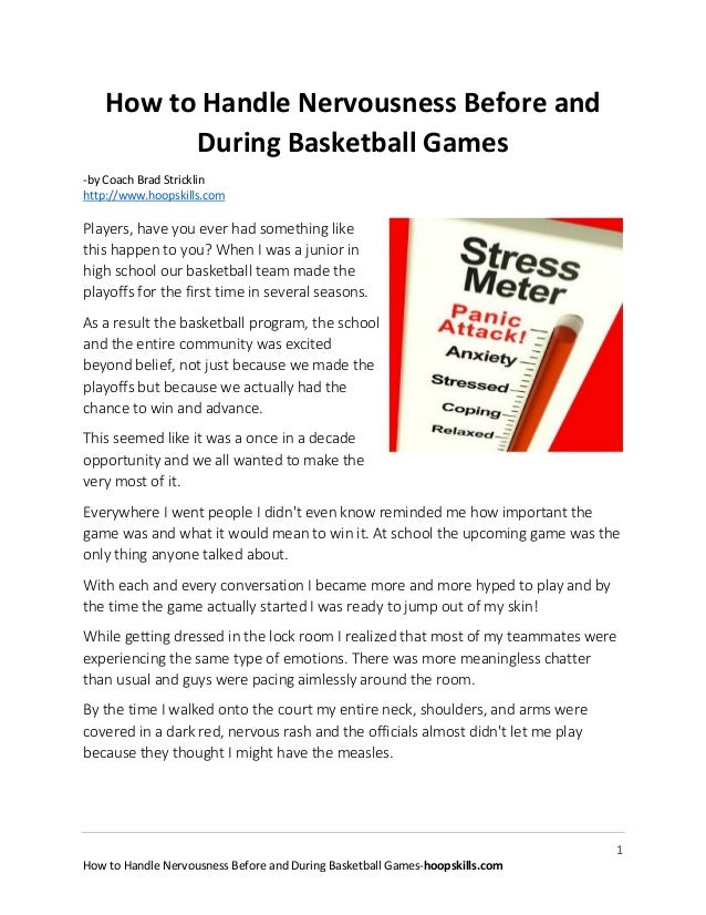 1 How to Handle Nervousness Before and During Basketball Games-hoopskills.com How to Handle Nervousness Before and During ...