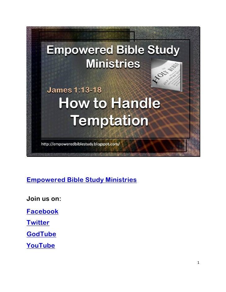 Empowered Bible Study MinistriesJoin us on:FacebookTwitterGodTubeYouTube                                   1